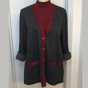 Alfred Dunner women's size M classy cardigan